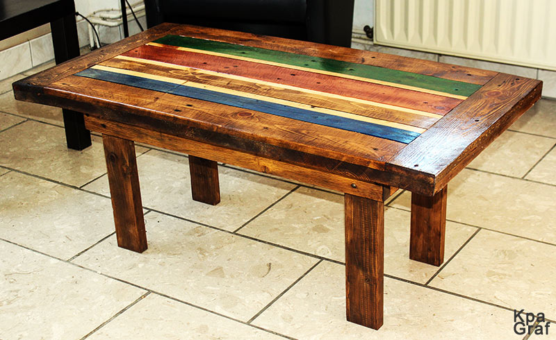 Table basse bois recyclage